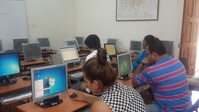 Students attending their first training session