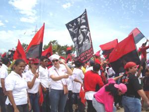 Sandinista women celebrate the Revolution