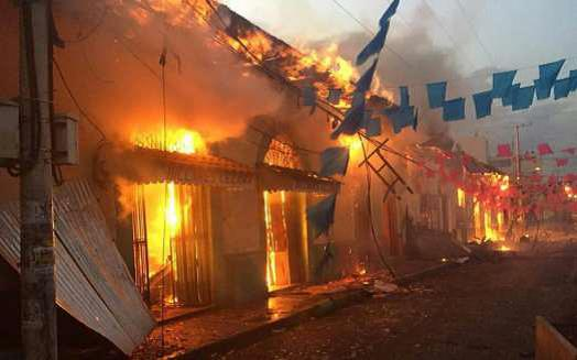 Protesters set fire to public buildings in Leon (here) and other cities