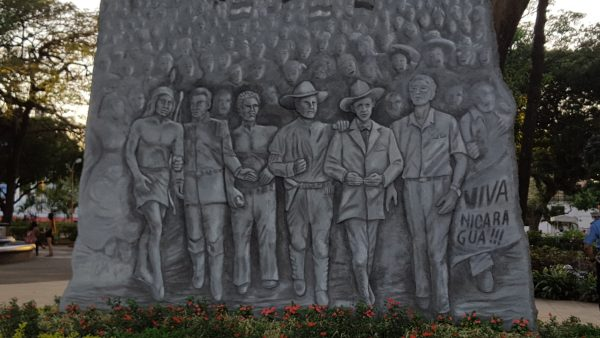 Wall at the site of the tombs of revolutionary heroes in Managua. Pic: Margaret Flowers