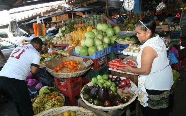 A popular market in Nicaragua