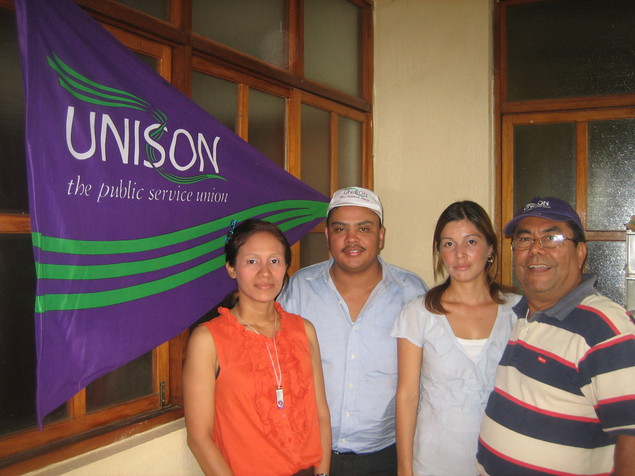 Legal office staff with UNE General Secretary