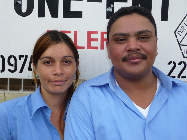 Office manager Lizzette Lopez and lawyer Henry Rodriguez